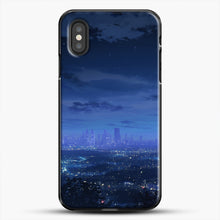 Load image into Gallery viewer, Anime Scenery City iPhone XS Case, Black Plastic Case | JoeYellow.com