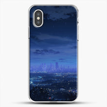 Load image into Gallery viewer, Anime Scenery City iPhone XS Case, White Plastic Case | JoeYellow.com