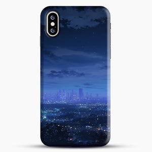 Anime Scenery City iPhone XS Case, Black Snap 3D Case | JoeYellow.com