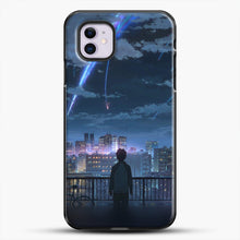 Load image into Gallery viewer, Anime See The City iPhone 11 Case, Black Plastic Case | JoeYellow.com