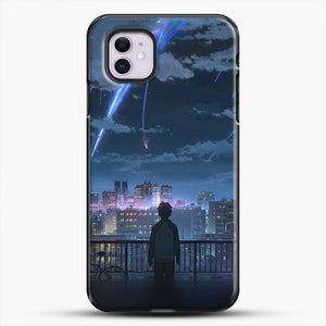 Anime See The City iPhone 11 Case, Black Plastic Case | JoeYellow.com