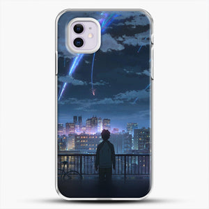 Anime See The City iPhone 11 Case, White Plastic Case | JoeYellow.com