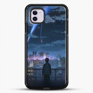 Anime See The City iPhone 11 Case, Black Rubber Case | JoeYellow.com