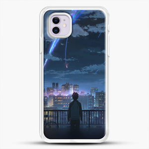 Anime See The City iPhone 11 Case, White Rubber Case | JoeYellow.com