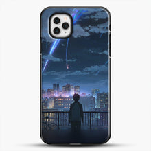 Load image into Gallery viewer, Anime See The City iPhone 11 Pro Case, Black Plastic Case | JoeYellow.com