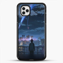 Load image into Gallery viewer, Anime See The City iPhone 11 Pro Case, Black Rubber Case | JoeYellow.com