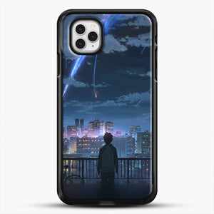 Anime See The City iPhone 11 Pro Case, Black Rubber Case | JoeYellow.com