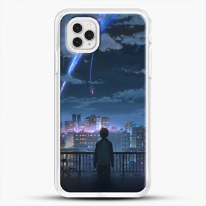 Anime See The City iPhone 11 Pro Case, White Rubber Case | JoeYellow.com