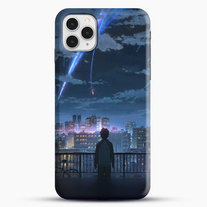 Anime See The City iPhone 11 Pro Case, Black Snap 3D Case | JoeYellow.com