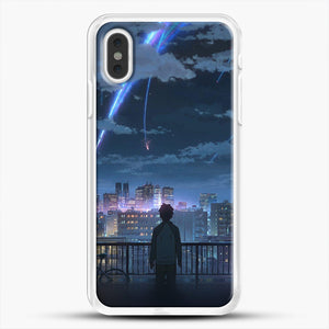 Anime See The City iPhone XS Max Case, White Rubber Case | JoeYellow.com