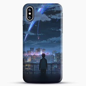 Anime See The City iPhone XS Max Case, Black Snap 3D Case | JoeYellow.com