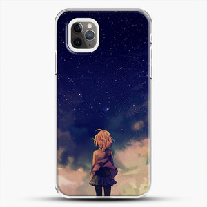 Anime Staring At The Sky iPhone 11 Pro Max Case, White Plastic Case | JoeYellow.com