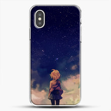 Load image into Gallery viewer, Anime Staring At The Sky iPhone XS Case, White Plastic Case | JoeYellow.com