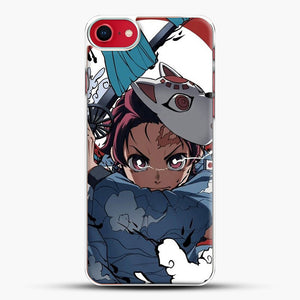 Animedemonslayer iPhone 8 Case, White Plastic Case | JoeYellow.com