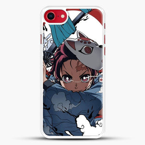 Animedemonslayer iPhone 8 Case, White Rubber Case | JoeYellow.com