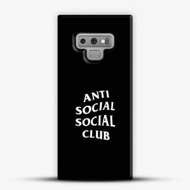 Anti Social Social Club Black Background Samsung Galaxy Note 9 Case, Snap 3D Case | JoeYellow.com