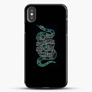 Anti Social Social Club Snake iPhone X Case, Black Plastic Case | JoeYellow.com