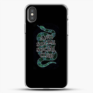 Anti Social Social Club Snake iPhone X Case, White Plastic Case | JoeYellow.com