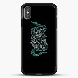 Anti Social Social Club Snake iPhone X Case, Black Rubber Case | JoeYellow.com