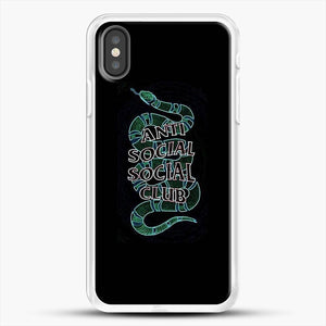 Anti Social Social Club Snake iPhone X Case, White Rubber Case | JoeYellow.com