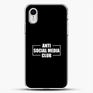 Anti Social Social Media Club iPhone XR Case, White Plastic Case | JoeYellow.com