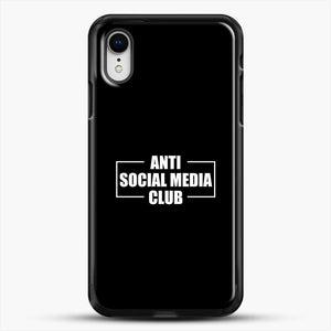 Anti Social Social Media Club iPhone XR Case, Black Rubber Case | JoeYellow.com