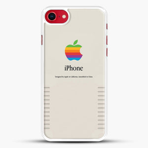 Apple iPhone Retro Edition Design iPhone 7 Case, White Rubber Case | JoeYellow.com