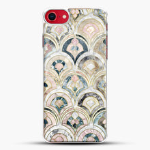 Load image into Gallery viewer, Art Deco Marble Tiles In Soft Pastels iPhone 7 Case, White Plastic Case | JoeYellow.com
