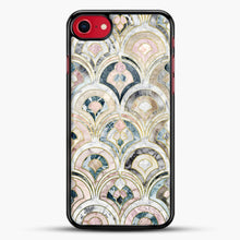 Load image into Gallery viewer, Art Deco Marble Tiles In Soft Pastels iPhone 7 Case, Black Rubber Case | JoeYellow.com