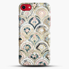 Load image into Gallery viewer, Art Deco Marble Tiles In Soft Pastels iPhone 7 Case, Black Snap 3D Case | JoeYellow.com