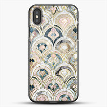 Load image into Gallery viewer, Art Deco Marble Tiles In Soft Pastels iPhone X Case, Black Plastic Case | JoeYellow.com