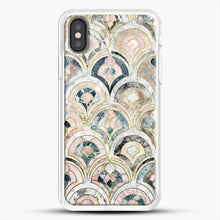 Load image into Gallery viewer, Art Deco Marble Tiles In Soft Pastels iPhone X Case, White Rubber Case | JoeYellow.com