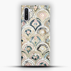 Art Deco Marble Tiles in Soft Pastels Samsung Galaxy Note 10 Case