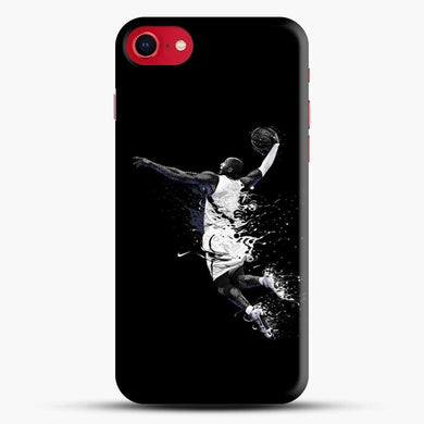 Basketball Texture Sports iPhone 8 Case, Black Snap 3D Case | JoeYellow.com