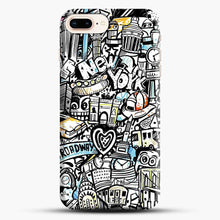 Load image into Gallery viewer, Black And White Doodle Illustration Cartoon iPhone 8 Plus Case