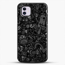 Load image into Gallery viewer, Black And White Doodle Illustration Dark Art iPhone 11 Case