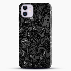 Black And White Doodle Illustration Dark Art iPhone 11 Case