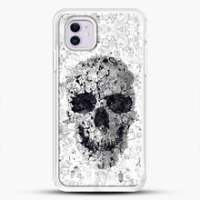 Load image into Gallery viewer, Black And White Doodle Illustration Skull iPhone 11 Case