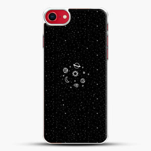 Black And White Doodle Illustration Space iPhone 7 Case