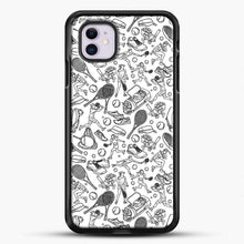 Load image into Gallery viewer, Black And White Doodle Illustration Tennis Doodle iPhone 11 Case