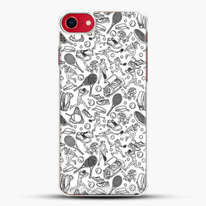 Black And White Doodle Illustration Tennis Doodle iPhone 7 Case
