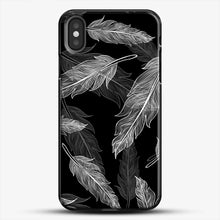 Load image into Gallery viewer, Black And White Feathers iPhone Case
