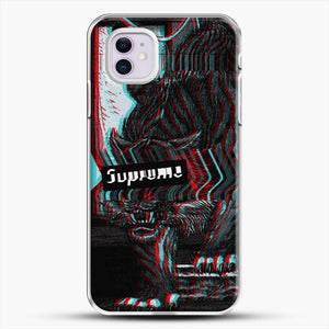 Black Beast iPhone 11 Case, White Plastic Case | JoeYellow.com