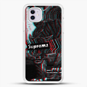 Black Beast iPhone 11 Case, White Rubber Case | JoeYellow.com