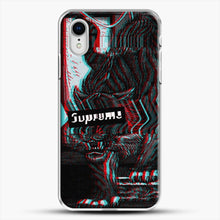 Load image into Gallery viewer, Black Beast iPhone XR Case, White Plastic Case | JoeYellow.com
