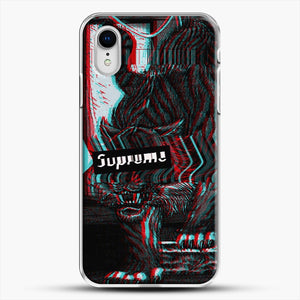 Black Beast iPhone XR Case, White Plastic Case | JoeYellow.com