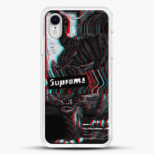 Black Beast iPhone XR Case, White Rubber Case | JoeYellow.com