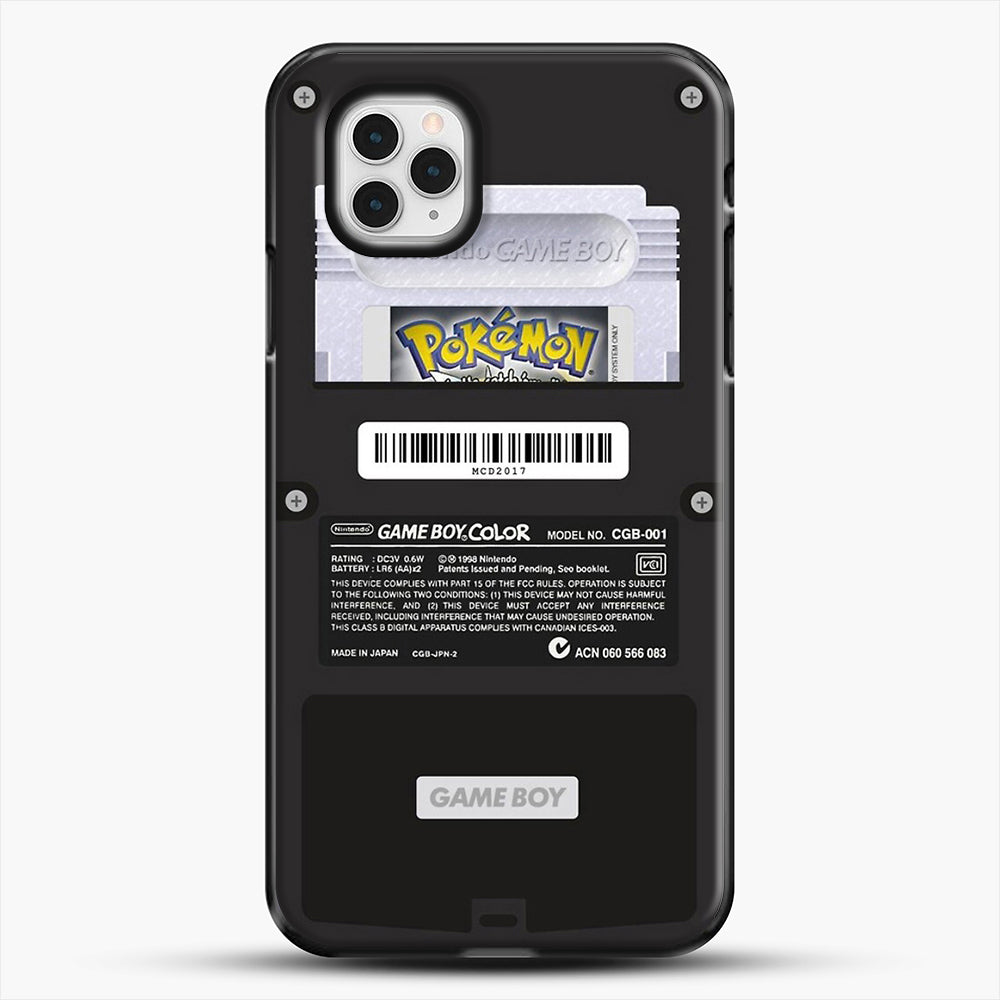 Black Gameboy Color Silver Cartridge iPhone 11 Pro Case, Black Plastic Case | JoeYellow.com