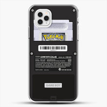 Load image into Gallery viewer, Black Gameboy Color Silver Cartridge iPhone 11 Pro Case, White Plastic Case | JoeYellow.com