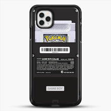 Load image into Gallery viewer, Black Gameboy Color Silver Cartridge iPhone 11 Pro Case, Black Rubber Case | JoeYellow.com